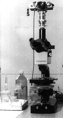 my VLC3 on a interference microscope 1986